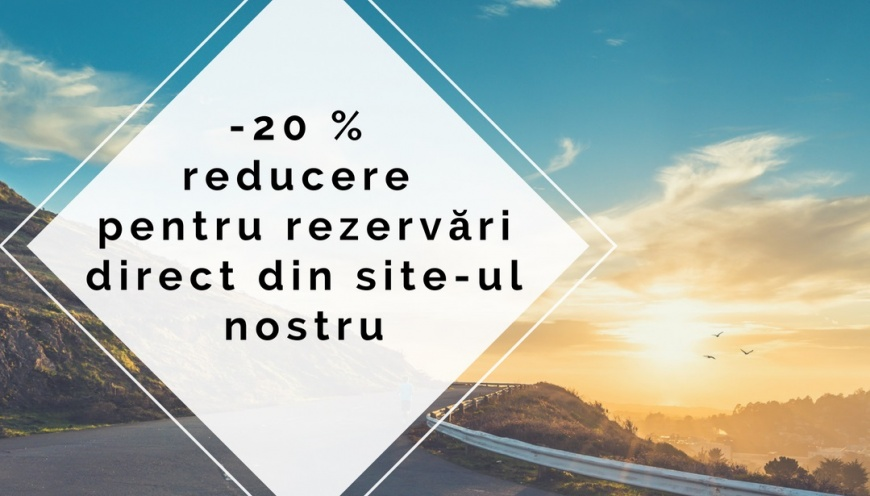 -20 % Reducere pentru rezervări direct din site-ul nostru