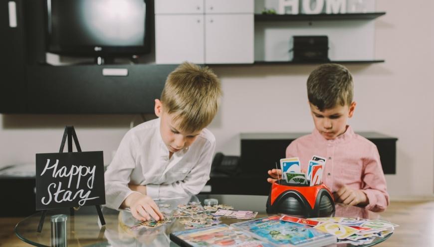 Happy kids at Twins Apartments Brasov